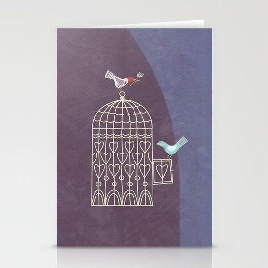Leaving the Birdcage Stationery Card