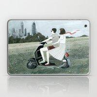 Couple On Scooter Laptop & iPad Skin