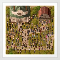 Super Walking Dead: Farm Art Print