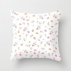 ROSES & MACARONS  Throw Pillow