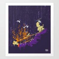 Trumpet Man Art Print