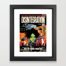 Disintegration Framed Art Print
