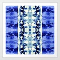 Tie Dye Blues Art Print