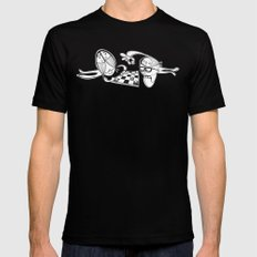 6 Fish Haircuts SMALL Black Mens Fitted Tee