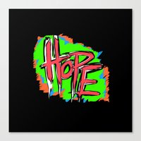 Hope (retro Neon 80's St… Canvas Print