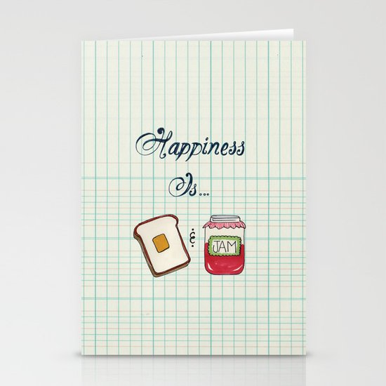Happiness Is Toast & Jam Stationery Card