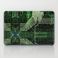Circuit board very green zoom iPad Case