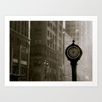 In Old New York. Art Print