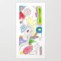 Line Vs Color #2 Art Print