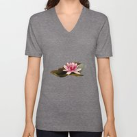 Water Lilies Unisex V-Neck