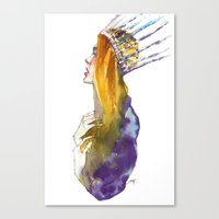 Fashion - Ice Queen Canvas Print