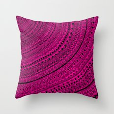 Hot Pink Pulse o4. Throw Pillow