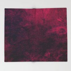 Grunge Pink Throw Blanket