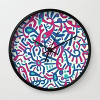 - summer sea jungle - Wall Clock
