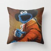 Monster Ducookie Throw Pillow