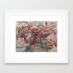 map of the heart Framed Art Print
