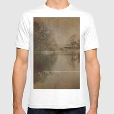 Throxenby Mere SMALL White Mens Fitted Tee
