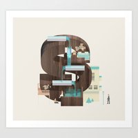 Resort Type - Letter S Art Print
