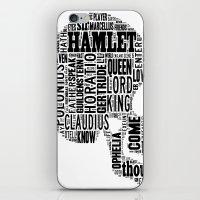 Shakespeare's Hamlet Skull iPhone & iPod Skin