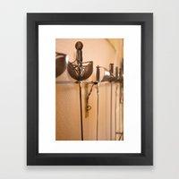 Fencing Master Framed Art Print
