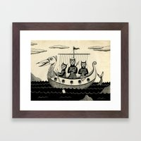 The Harpooners  Framed Art Print