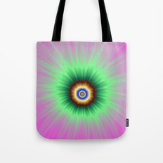 Explosion of Color in Pink and Green Tote Bag