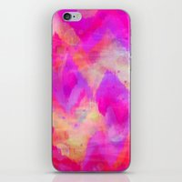 BOLD QUOTATION, Revisited - Intense Raspberry Peachy Pink Vibrant Abstract Watercolor Ikat Pattern iPhone & iPod Skin