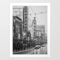 Snowy Granville B&W Art Print