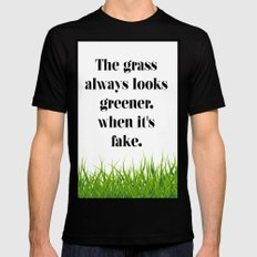 GRASS SMALL Black Mens Fitted Tee
