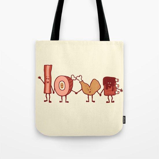 Meat Love U Tote Bag