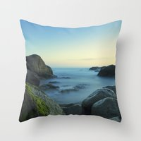Milky Ocean II Throw Pillow
