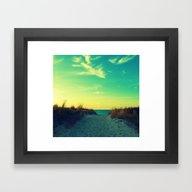 Walk In Love Framed Art Print