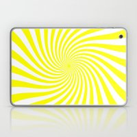 Swirl (Yellow/White) Laptop & iPad Skin