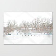 winterpool Canvas Print