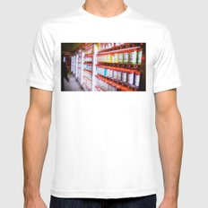 Pantone Pods White SMALL Mens Fitted Tee