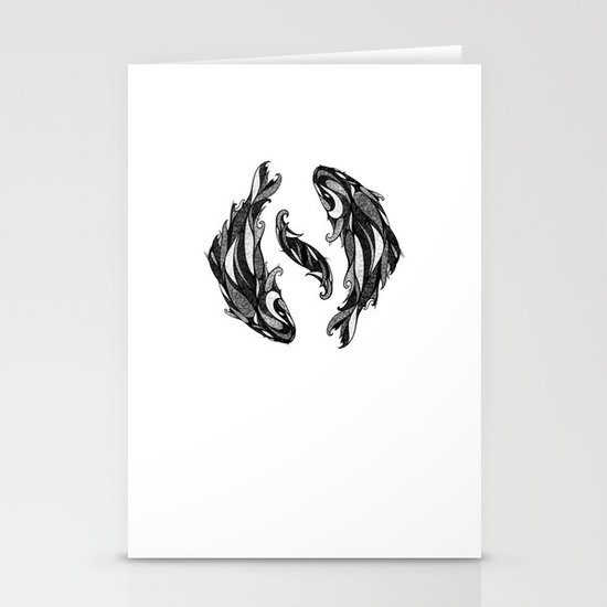 Signs of the Zodiac - Pisces Stationery Card