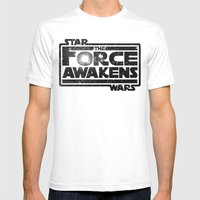 The Force Awakens Mens Fitted Tee White SMALL
