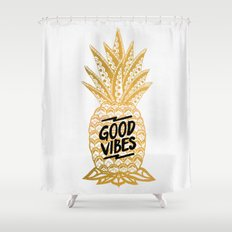 Good Vibes Ananas Shower Curtain