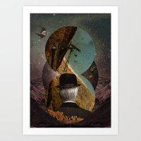 Starlit Rafting Art Print