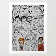 Strangers Art Print