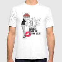 Maquillée Comme Une Voi… Mens Fitted Tee White SMALL