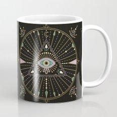 Evil Eye Mandala – Black Mug