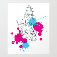 out boat Art Print