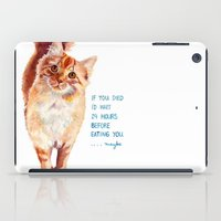 If You Died iPad Case