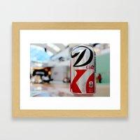 Diet Coke Framed Art Print