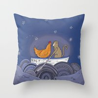 The Lady El Throw Pillow