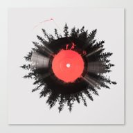 Canvas Print featuring The Vinyl Of My Life by Robert Farkas
