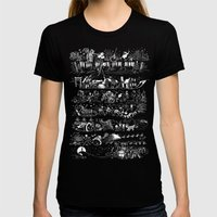 Nightmare Story Womens Fitted Tee Black SMALL