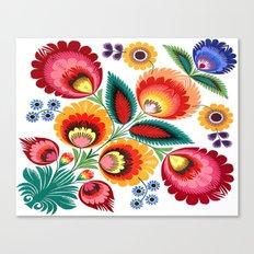 Slavic Folk Pattern Canvas Print