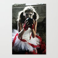 Black Balloon.  Canvas Print